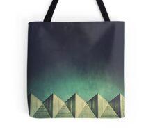 Urban Geometric Landscape Skyline Tote Bag