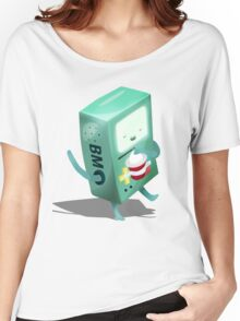 Oh BMO, how'd you get so pregnant? Women's Relaxed Fit T-Shirt