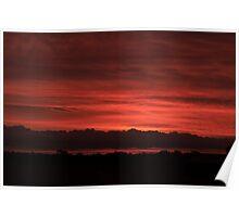 Sunset - Berri, South Australia Poster
