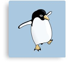 Penguin Learning to Fly Canvas Print