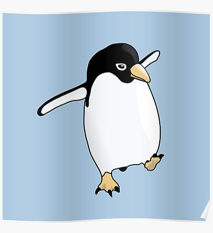 Penguin Learning to Fly Poster