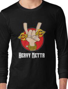 Heavy Metta - Dharma Metal horns (color) Long Sleeve T-Shirt