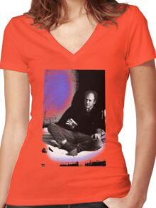 Ken Kesey. Women's Fitted V-Neck T-Shirt