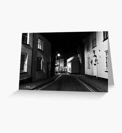 Street Photography at Night Greeting Card