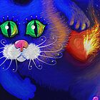Blue Cat Valentine's Day by Iuliia Dumnova
