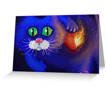 Blue Cat Valentine's Day Greeting Card