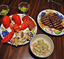 George Cooked Valentines Dinner by trueblvr