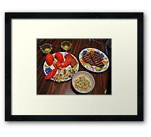 George Cooked Valentines Dinner Framed Print