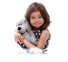 Child with doll Photographic Print