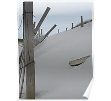 Dune Fence- protecting our sand dunes Poster