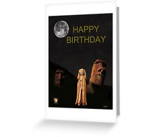 Easter Island The Scream World Tour Happy Birthday Greeting Card