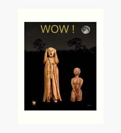 Yoga The Scream World Tour Wow Art Print