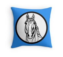 Sharpie Horses: Casper Throw Pillow