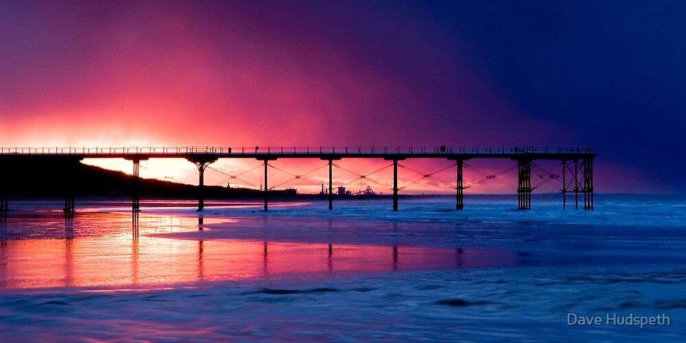 Saltburn Pier Sunset by Dave Hudspeth