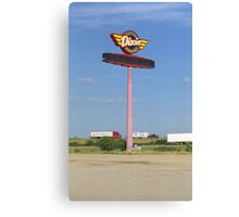 Route 66 - Dixie Truckers Home Canvas Print