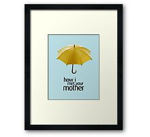 Yellow Umbrella. How I Met Your Mother. Framed Print