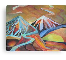 Hills of the Unconscious Number Five - Primordial Heat Canvas Print