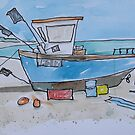 Aldeburgh Fishing Boat Suffolk Sketch by AndyLanhamArt