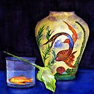 still life with fish by agnès trachet