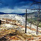 Mammoth Hotspring... Storm Rising... by Bob Moore