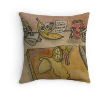 That's Sour- Lemon Has The Chop Throw Pillow