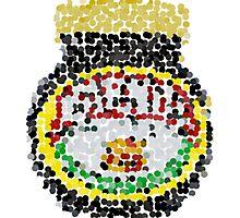 Marmite on dots Photographic Print