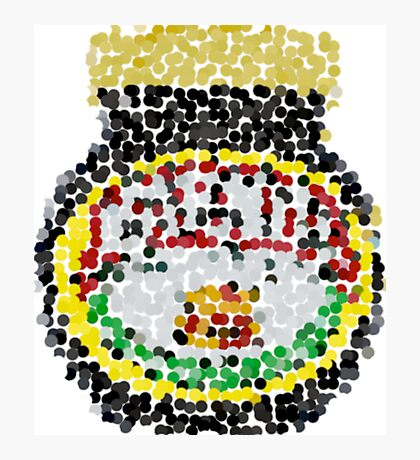 Marmite on dots Photographic Print