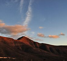 Red Mauntains in Lanzarote Canary Island by Alessandra Antonini
