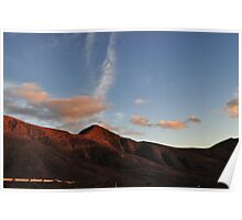 Red Mauntains in Lanzarote Canary Island Poster