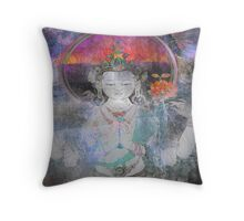 Rose ~ Love ~ White Tara Throw Pillow