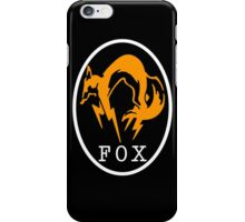 FoxHound Black Metal Gear Solid iPhone Case/Skin