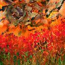 Misty Poppy Field by George Hunter