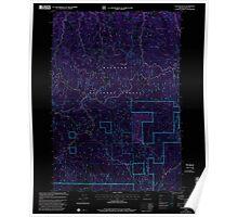 USGS Topo Map Oregon Cougar Rock 279458 1999 24000 Inverted Poster