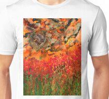 Misty Poppy Field Unisex T-Shirt