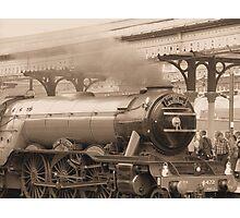 Flying Scotsman -Sepia Photographic Print