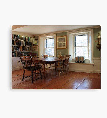 Lothrop Room, Sturgis Library Canvas Print