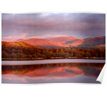 Sunset in the Lake District Poster