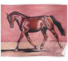Walking with Purpose (oil painting horse portrait) Poster