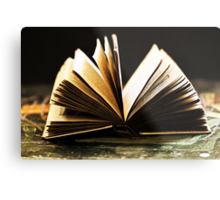 Open Book -Pages- Metal Print