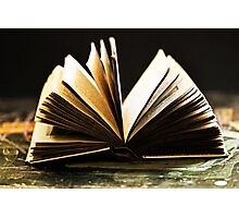 Open Book -Pages- Photographic Print