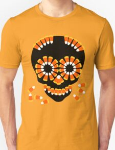 Candy Skull Halloween Theme by Patjila T-Shirt