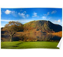 Autumn colours on the Lake Poster