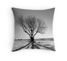 Tree projection Throw Pillow