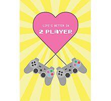 Retro Style 2-Player Playstation Print Photographic Print
