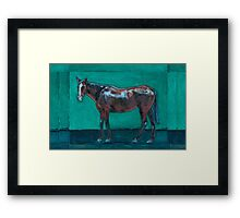 Night Watching  (oil painting horse portrait) Framed Print