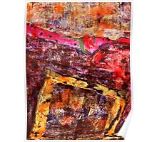 Abstract Expression Textile Art Poster