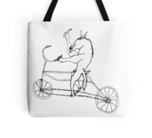 horse with hands riding a bike Tote Bag