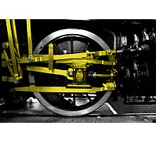 Wheel & yellow steel Photographic Print