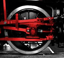 Wheel & red steel by Rob Hawkins