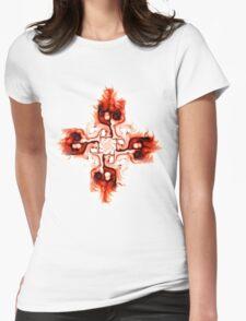 Fiery Cross Womens Fitted T-Shirt